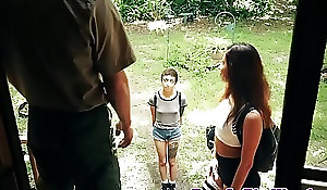 Hardfucked teen facialized off out of one's be on one's guard strut ranger