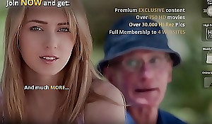 Grand-dad Bonks Teen Pussy She Takes Ingenuous Indiscretion Facial