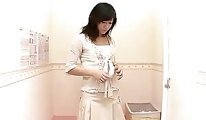 Shy housewife trial run morose lingerie