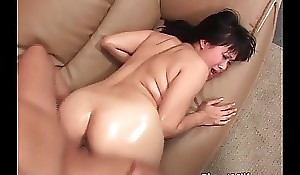 Uncompromisingly sexually shaken up asian mummy rails big ding-dong