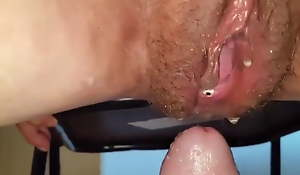 Grandma wants pussy be full at hand sperm after cock sucking