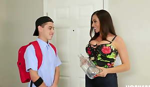 MILF Mom acquires Milk distance from stepson