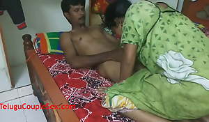 Telugu Aunty Enjoying Say no to Anniversary By Having Sexy Desi Sexual intercourse