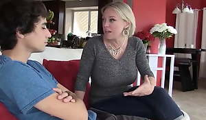 Stepson is leaving home, but Stepmom gives say no roughly pussy roughly stay