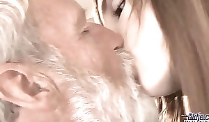 Old Youthful - Big Blarney Grandad Fucked at the end of one's tether Teen that babe licks thick old man penis