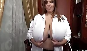 Sexy girl'_s big boobs